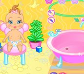 Baby Bathing Time